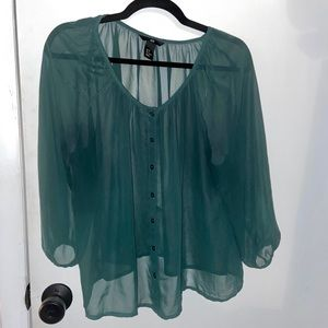 ❗️5 for $20❗️H&M Green Blouse